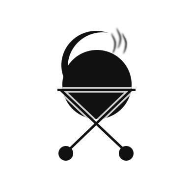 Oil drum smoker icon