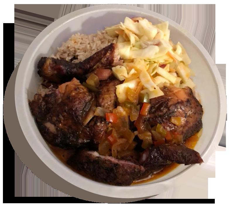 Bowl of Jerk Chicken