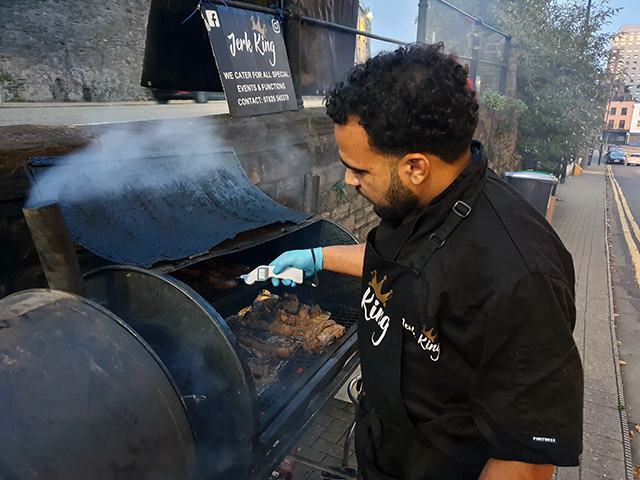News: Jerk King makes sure that chicken is cooked to the right temperature before serving